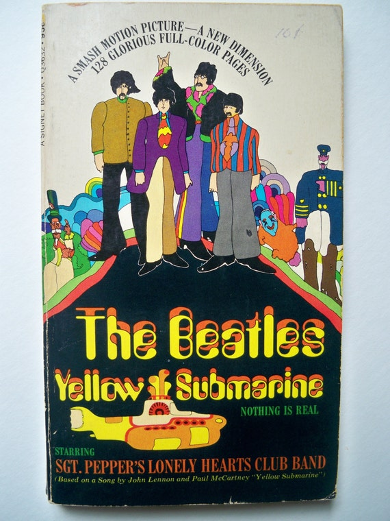 beatles yellow submarine book 1968 1st printing by studiowillow. Black Bedroom Furniture Sets. Home Design Ideas