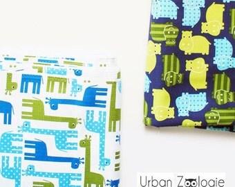 Urban Zoologie Giraffes - Ann Kelle for Robert Kaufman Fabrics