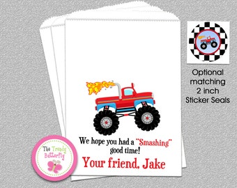 Monster Truck  Party Favor Bags , Goody Bags , Candy Bag