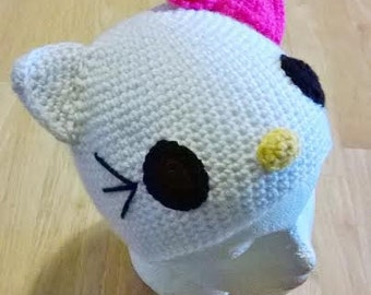 Hello Kitty Hat With Detachable Bow-All Sizes-Made To Order