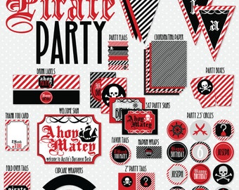 Pirate Party PRINTABLE Custom Birthday by Love The Day
