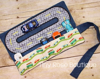 Car Caddy Roll with Road - Holds 5 Cars - Perfect for Travel