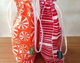 SALE // Drawstring bag // Screen printed bag // Travel bag // Drawstring tote