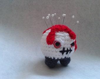 Crochetlien Bloody Pin Cushion for Halloween - Amigurumi Crochet Pattern