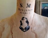 Beautiful 1959 Wolf Dress Form Benjamin - Vintage Size 14-1/2