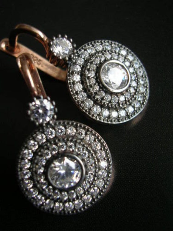 MAIA Earrings Hollywood era inspired sparkly chic diamond inspired looks