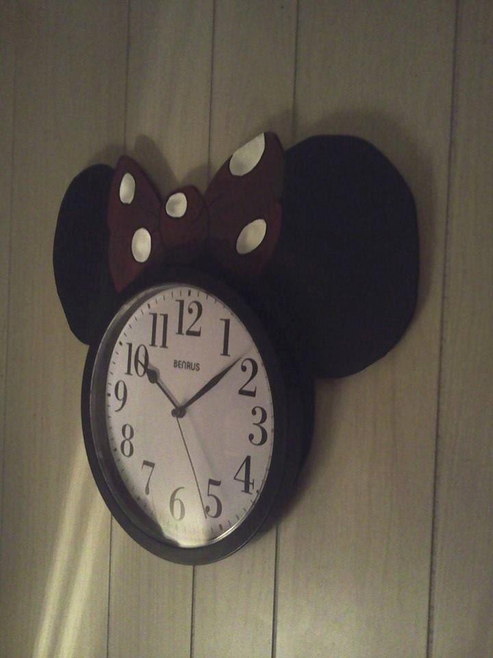 Minnie Mouse Disney Character Wall Clock For Children Bedroom