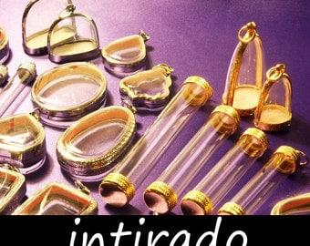 Terrarium Jewelry, Living Plant Jewelry, Wholesale Lockets, Fillable Vial, Marimo, Planter, Shadow Box Pendants, Locket Cases, 25pcs