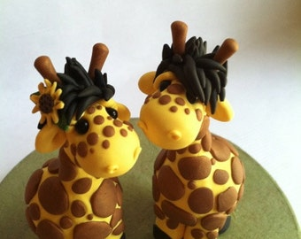 Giraffe Wedding Cake Topper handmade