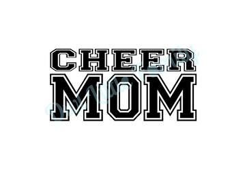 Cheer Mom Iron On Vinyl Decal