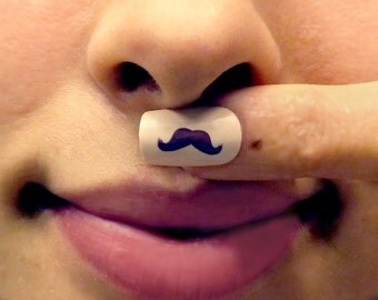 Moustache Nails Glue On
