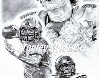 Detroit Lions Matt Stafford Poster Art