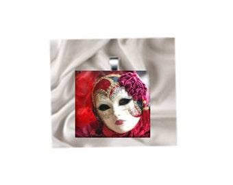 Pendant Necklace Carnival Mask