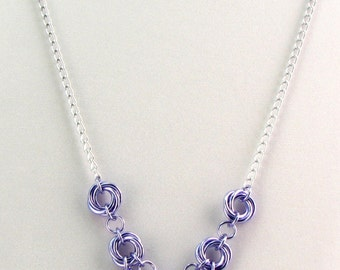 Evelyn Chainmaille Necklace Set - Colorfalls Ombre Collection