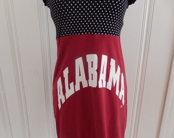 One of a Kind Gameday Dress made w/ Alabama TShirt - Large - On Sale and Free Shipping