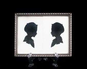 Antique Silhouette Picture Frame