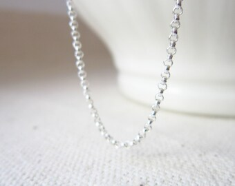 Sale - 1.5mm ROLO - 18 Inch Sterling Silver Rolo Chain - Silver Necklace - Rolo Necklace Chain - Finished Chains - Simple Necklace - Everyda