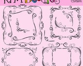 KPM Scroll Frames and corners digital clipart