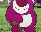 Toy Story Lotso Huggin Bear Decoration - Stand Up standee Photo Prop, Toy Story Decor