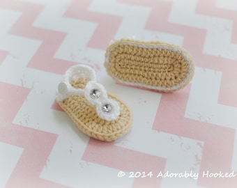 baby flip flops h keln baby sandalen h keln von adorablyhooked. Black Bedroom Furniture Sets. Home Design Ideas
