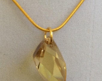 Swarovski Golden Shadow Necklace