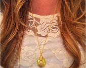 Neon Pineapple Necklace - Tropical