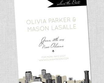 LARGE New Orleans Save the Date Card
