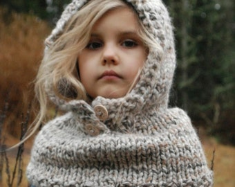 Knitting PATTERN-The Channel Cowl (12/18m, Toddler,Child, Adult sizes)
