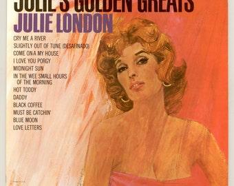 Julie London - Julie's Golden Greats, Including Cry Me a River & Black Coffee 1963 Liberty LP Vintage Vinyl Record Album