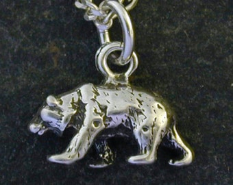 Sterling Silver Bear Pendant on a Sterling Silver Chain.
