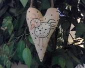 ATG2OFG, Handmade, Primitive, Chicken, Heart, Ornament