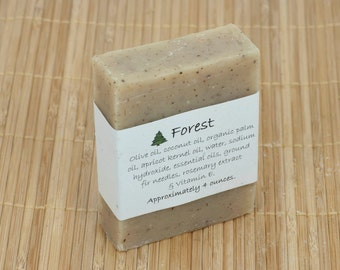 Forest Soap Scented with Essential Oils, 4 Ounces