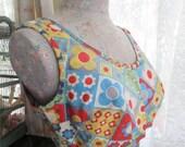 Vintage 1950's 50's Bullet Bra Cotton Canvas Bikini Swimsuit Top Hippie Retro Fabric C43