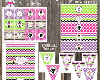 INSTANT DOWNLOAD - Halloween Cuties Party Package Printable