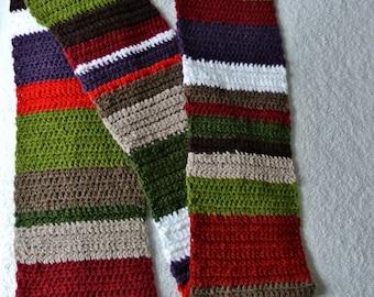 Crochet Pattern Tuscan Scarf - Easy Stripes Photo Tutorial PDF
