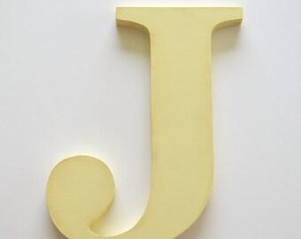 Letter J - wooden letters - 8 inch cut out letters - cursive letters