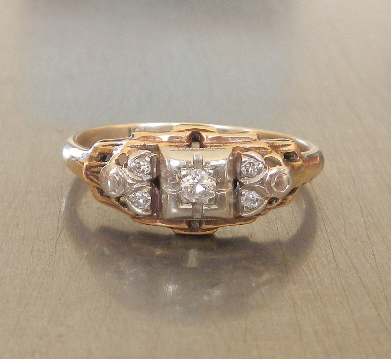 Art Deco Engagement Ring 1930s Engagement Ring Antique