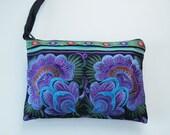 Hmong Vintage Style Ethnic Thai Boho Small Size Embroidered Bag