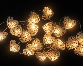 String Lights On Off Switch : On-Off Switch 20 bulbs Twinkle White Star mulberry paper