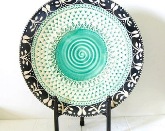 Pottery Serving Platter, Handmade Wheel-Thrown Ceramic Stoneware...MADE TO ORDER