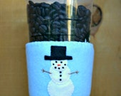 Snowman Winter Felt Cup Cozy