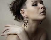 All black geometric earrings