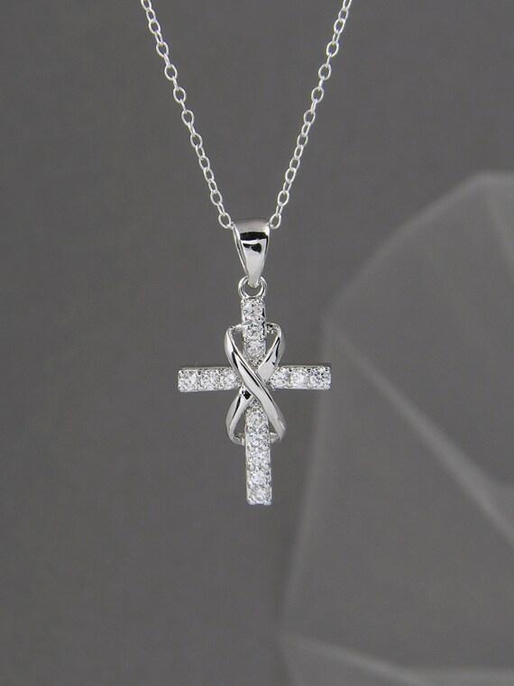 Infinity Cross Necklace Bridal Jewelry Wedding Jewelry