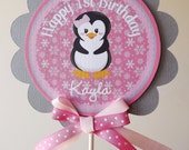 Pink Grey Black Winter Onederland Collection: Smash Cake Topper, Cake Topper, Small Centerpiece -Birthday -Baby Shower -Seasonal