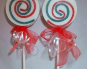 Apple Orchard Shea Butter Popsicle Soap with Red and Green Swirls. Perfect for Stocking Stuffers. by Indigo Ambiance