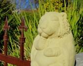 MEDIUM MEDITATING TIGER Original Zen Creation Garden Sculpture (o/v)