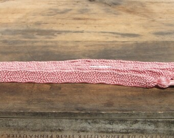 Obijime. Japanese Cord for Tying Obi. Woven Silk Tie Belt. Pink Gold Flecks (Ref: 951)
