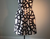 Women's Plus Size Black and White Dress