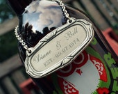 Custom Engraved Pewter Wine, Beer or Decanter Bottle Label - Includes Engraving