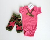 The ORIGINAL Camouflage Duck Call Hunting Long Sleeve One PIece with Camo Baby Leg Warmers
